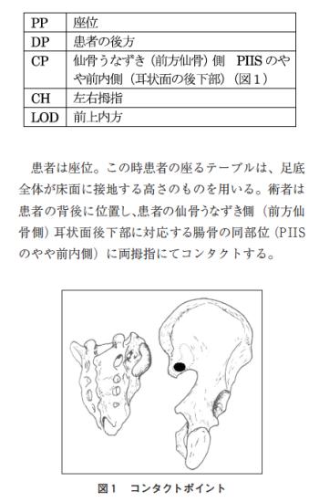 仙腸関節座位矯正法の紹介と仙骨変位に関する考察の表紙
